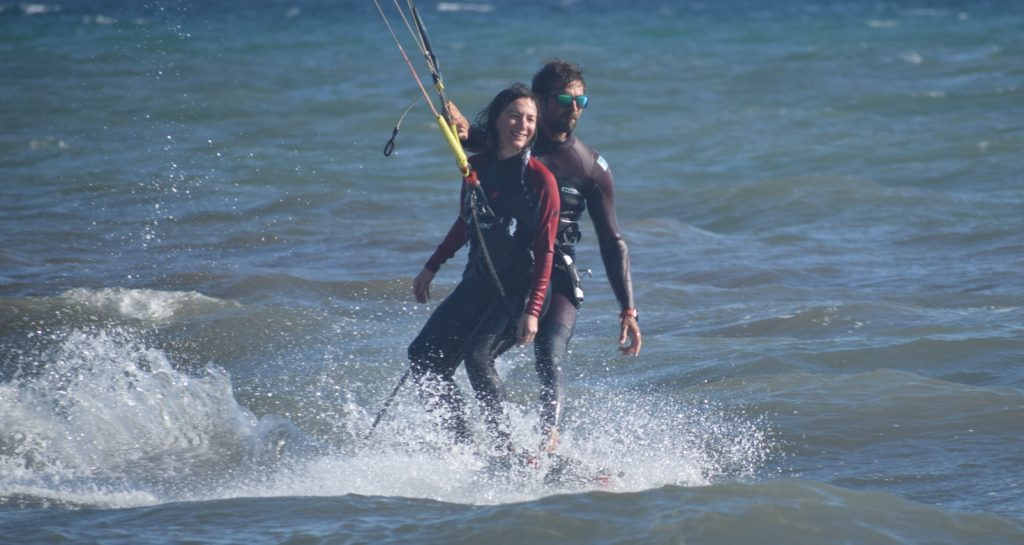 tandemkiteboard in athens greece - try tandemkitesurf now